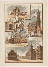 """Titelblad veilingcatalogus """"Amsterdam in Teekening en Prent. Catalogus van den b…"""