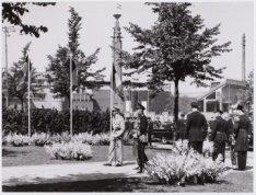 Bezoek koning Boudewijn van Belgie, inspectie van de erewacht
