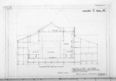Verbouwing van theater Carré, Amstel 115-125. Vervallen bouwtekening met dwarsdo…