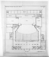 Verbouwing van theater Carré, Amstel 115-125. Ontwerptekening met plattegrond