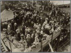 Doopceremonie voor het vrachtpassagiersschip ss. Van Rensselaer