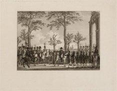 Aanbieding van de sleutels van Amsterdam aan Keizer Napoleon