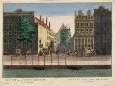 Gezicht op de Oude Waalen Kerk tot Amsterdam