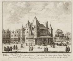 De Waag, op de Nieuwe Merkt; het overblijfsel van S. Antoni Poort, in het jaar 1…