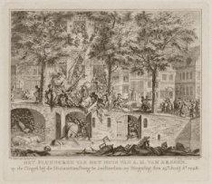 Het plunderen van het huis van A. M. van Arssen, op de Cingel bij de Huiszittens…