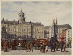 Het Damplein, omstreeks 1885