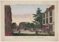 Vue de la Porte d''Utrecht à Amsterdam