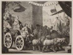 """Maria de Medici als """"Berecynthia"""", op een wagen, door Lodewijk XIII bestuurd, wo…"""