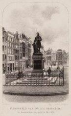 Standbeeld van Mr. J.R. Thorbecke onthuld op 18 mei 1876