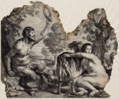 De jeugd van Zeus / Quid mirum natura Jovis. Groot fragment van een prent naar h…