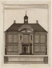 Afbeelding van het Rechthuis in de Diemer- of Watergraafs-Meer, herbouwt in den …