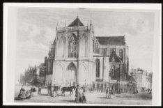 Nieuwe Kerk, Dam 12, rechts de Mozes en Aäronstraat en links Nieuwezijds Voorbur…
