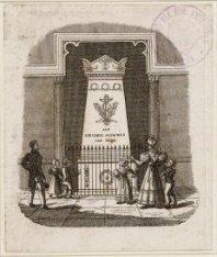 Het grafmonument van J.C.J. van Speyk in de Nieuwe Kerk, Dam 12. Techniek: staal…