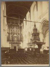 Interieur, Nieuwe Kerk, Dam 12. Achterzijde Nieuwezijds Voorburgwal 143