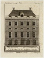 De Hoogduitse Schouwburg, Amstelstraat 21. Geopend op 19 januari 1791. Techniek:…