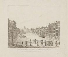 Vue du Kloveniers Burgwal et de la Maison de Trip, du Hoog-Straat au Marché Neuf