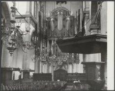 Prinsengracht 279, Westerkerk, interieur gezien richting het orgel met rechts de…