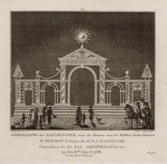 Afbeelding der Illuminatie voor het Huis van de Wel Ed. Gestr. Heeren H. Muilman…