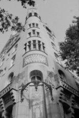 Leidseplein 28 hoek Leidsekade 97, detail van de gevel van het American Hotel