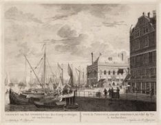 Gezicht van het Zeeregt aan den Kamper-Steiger, tot Amsterdam