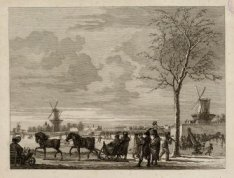 Gezicht op den Buiten Amstel van de Weesperzijde op de stad Amsterdam te zien