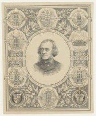 Gedenkprent met portret van dr. Joseph Albert Alberdingk Thijm (1820-1889), hoog…