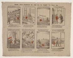 Kinderprent met acht taferelen uit het leven van J.C.J. van Speyk (1802-1831) en…
