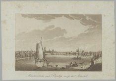 Amsterdam and Bridge across the Amstel