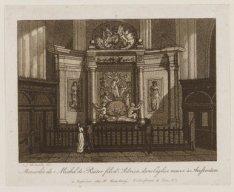 Mausolée de Michel de Ruiter fils d'Adrien dans l'église neuve à Amsterdam