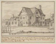Verwery gestaan hebbende op de hoek van de Binnen Amstel en Kerkstraat of Weespe…
