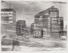 Wibautstraat met Rijksbelastingkantoor en Wibauthuis