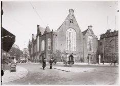 De Oude Lutherse Kerk, Singel 411. Links het Spui, gezien in oostelijke richting