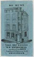 De Munt. Tabak, Snuif & Sigaren W.F. Wandscheer