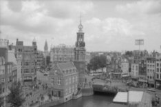 Singel/Muntplein met in het midden de Munttoren en het Wachthuis