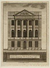 Afbeelding van 't Huijs der Maatschappye Felix Meritis t' Amsterdam 1790