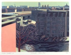 Gezicht vanaf de flat Nassauplein 1-39 in oostelijke richting