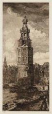 De Montelbaanstoren, gezien van Rapenburg