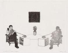 Portret van de dichter K. Schippers (pseudoniem voor Gerard Stigter; geboren Ams…