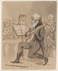 Muziekuitvoering in Felix Meritis aan de Keizersgracht 324