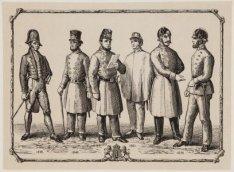Uniformen der Politie van 1775 - 1875