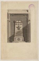 Grafmonument van J.C.J. van Speyk in de Nieuwe Kerk. Techniek: ets