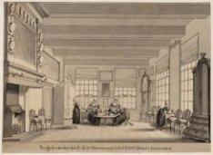 De vergaderkamer in het Nederduits-Hervormd Diaconie Oude Vrouwen- en Mannenhuis