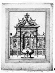 Ontwerp voor een fontein in de vorm van een geveltop