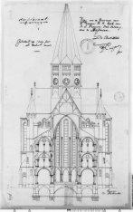 Voorgevel van de Posthoornkerk, Haarlemmerstraat 124