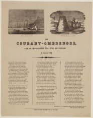 De Courant-ombrenger, aan de Ingezetenen der Stad Amsterdam. 1 Januari 1876