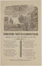 Porsters Nieuwjaarswensch. Opgedragen aan hare geachte Begunstigers. 1 Januari 1…