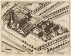 Het Binnengasthuis in vogelvlucht, ooit het terrein van het klooster van de Oude…
