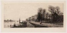 De Amstel, rechts Amsteldijk ter hoogte van 109-115 met buitenplaats Meerhuizen