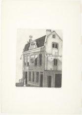 Het zogenaamde 'melkhuisje', Conradstraat 18K. Voorstelling in spiegelbeeld. Tec…