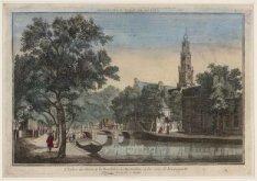 L'Eglise du Ouest et la Boucherie, a Amsterdam; a les voir de Keizersgracht